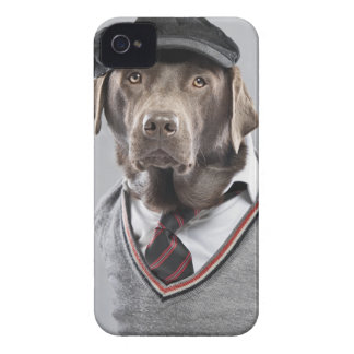 Dog in sweater and cap iPhone 4 Case-Mate case