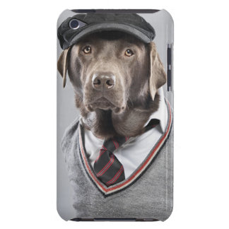 Dog in sweater and cap iPod touch cover