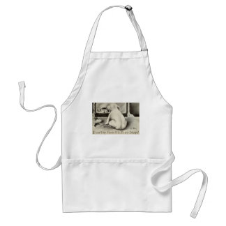 Dog in the Mirror Repro Vintage 1910 Adult Apron