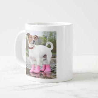 Dog In The Rain Giant Coffee Mug