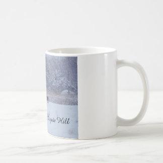 Dog in the Snow Coffee Mug