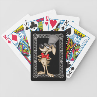 Dog In Top Hat Playing Cards