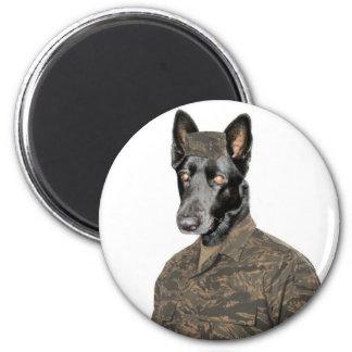 Dog In Uniform Magnet