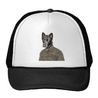 Dog In Uniform Trucker Hat