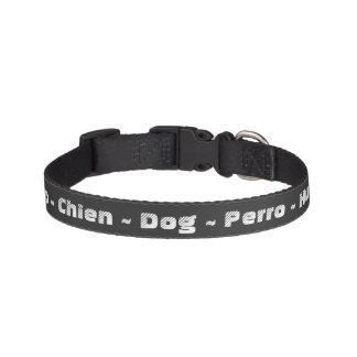 Dog in Various Languages Dog Collar