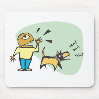 dog is barking mouse pad