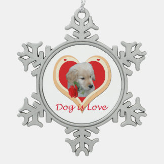 Dog is Love Christmas ornament