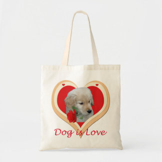 Dog is Love Tote Bag
