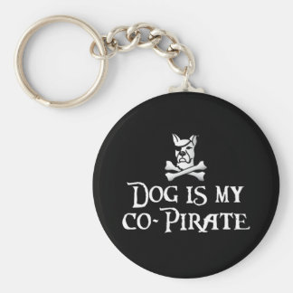 Dog is my Co-Pirate Basic Round Button Keychain
