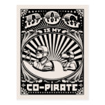 Dog is My Co-Pirate Postcard