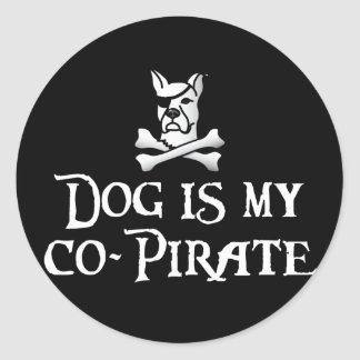 Dog is my Co-Pirate Stickers