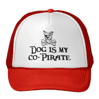 Dog is my co-pirate trucker hat
