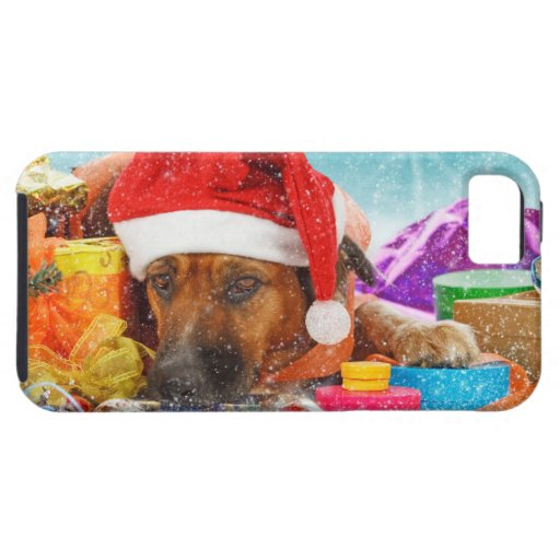 Dog is waiting for Christmas iPhone 5 Cover