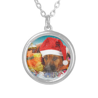 Dog is waiting for Christmas Necklaces