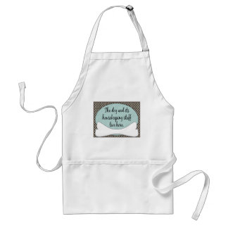 Dog & It's Housekeeping Staff Live Here Adult Apron