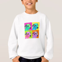 Dog, Jack Russell Terrier. Popart, Warhol - animal Sweatshirt