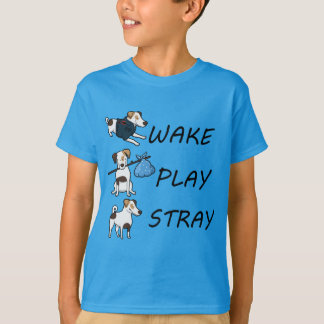 Dog Jack Russell Terrier WAKE PLAY STRAY T-Shirt