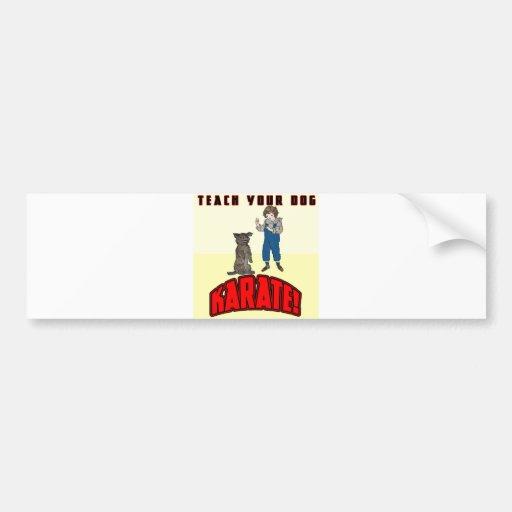 Dog Karate 1 Bumper Stickers