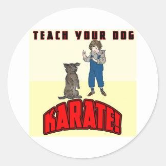 Dog Karate 1 Classic Round Sticker