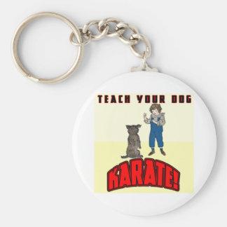 Dog Karate 1 Keychain
