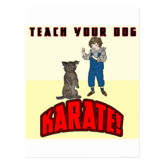 Dog Karate 1 Postcard
