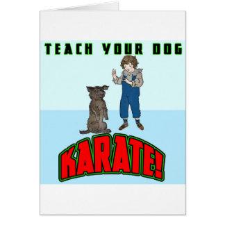 Dog Karate 2 Greeting Cards