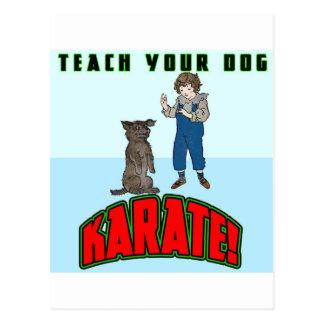 Dog Karate 2 Postcard