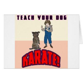 Dog Karate 3 Greeting Cards