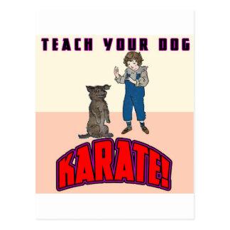 Dog Karate 3 Postcard