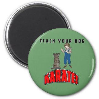 Dog Karate 4 2 Inch Round Magnet