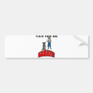 Dog Karate 4 Bumper Sticker