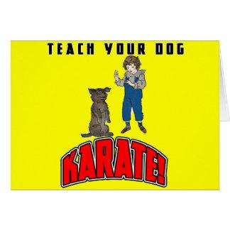 Dog Karate 4 Greeting Cards