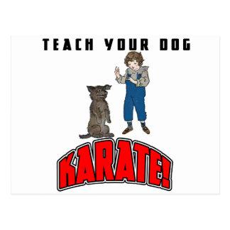 Dog Karate 4 Post Card