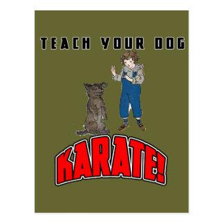 Dog Karate 4 Postcard