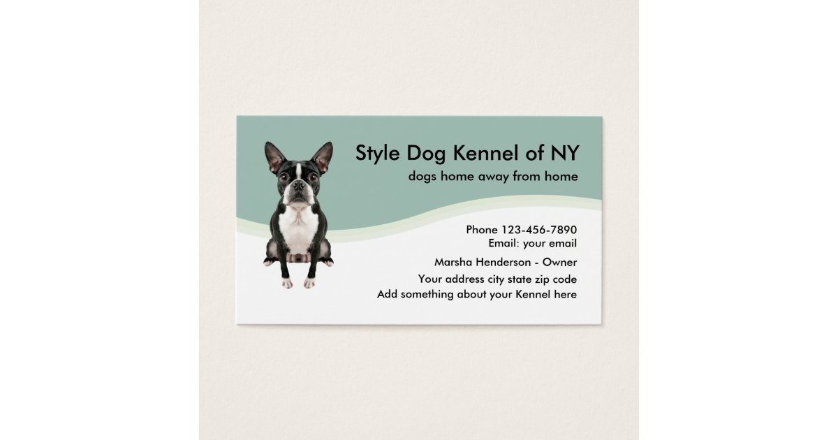 Dog Kennel Business Card | Zazzle.com
