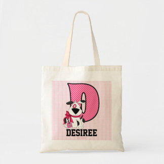 "Dog Kids Monogrammed Letter ""D"" Tote Bag"