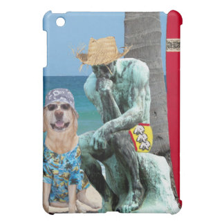 Dog/Lab & Thinker on the Beach Case For The iPad Mini
