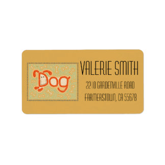 Dog Address Label