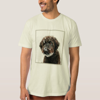 Dog: labradoodle painting T-Shirt