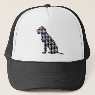 DOG labrador pet colorful DOTS NavinJOSHI NVN56 Trucker Hat