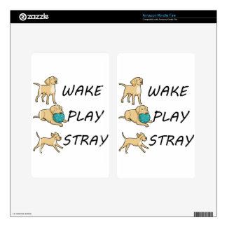 Dog Labrador WAKE PLAY STRAY Kindle Fire Skin