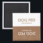 """Dog Last Fed... Evening &amp; Morning Magnet Reminder<br><div class=""""desc"""">Who fed Max last? No one knows! Well now you can keep track with this helpful and handy magnet. Put it on the fridge, and keep track of your dog&#39;s feeding schedule. Never get mixed up again! Go on and get it today: keep track of the last time your dog...</div>"""