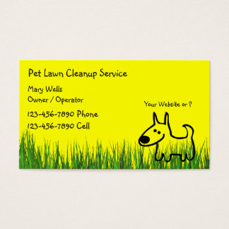 Dog Lawn Cleanup Business Cards