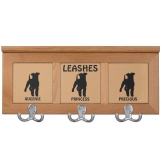 Dog Leash Rack For Three Welsh Terrier Dogs Coat Racks
