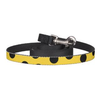 Dog Leash - Yellow Polka