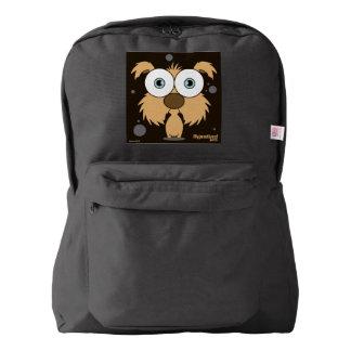 Dog(Light Brown) Backpack, Black American Apparel™ Backpack