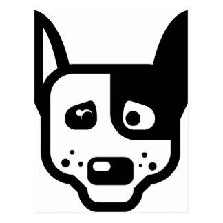 Dog Logo Vector Postcard