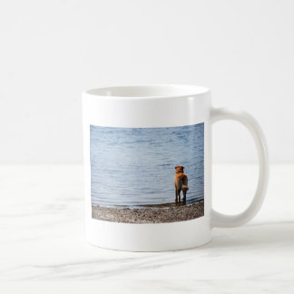 Dog Looking Out to Sea Coffee Mug