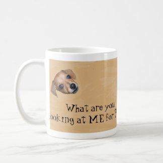 Dog looking up for treats Mug