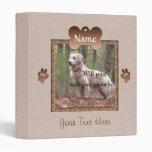 Dog Loss - Dog Memorial (beige) Binder